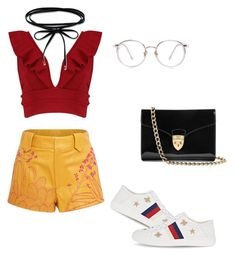 """day out look #11"" by kiwiid on Polyvore featuring Georgine, Boohoo, Gucci and Aspinal of London"