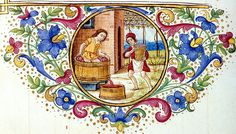 Harvesting grapes and making wine. calendar August. Italy c. 1502 YT 30 BL | Flickr - Photo Sharing!