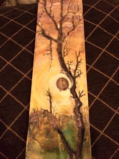 Sunset with Tree - Wood Projects Wood Burning Patterns, Wood Burning Art, Wood Panneling, Wood Burn Designs, Longboard Design, Wood Projects For Kids, Furniture Painting Techniques, Steampunk House, Wood Backsplash