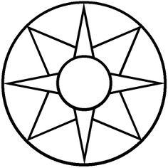 Star Quilt Blocks, Quilt Block Patterns, Mosaic Patterns, Mindfulness Colouring, Printable Star, Animal Spirit Guides, Henna Body Art, Wheel Of Life, Triple Goddess