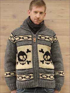 7b754458d94 Granted Clothing — Skull Chain Hand Knitted Sweaters