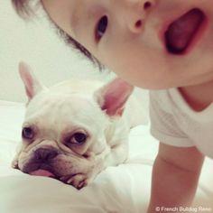 悩み事♥️ #frenchie #dog #daughter #babygirl #フレンチブルドッグ #女の子