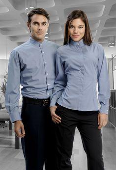 Uniforme mixto en combinaciones azul y negro http://www.creacionesred.com.mx/