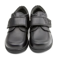 Accelerate - Black Leather - these durable Start-rite boys school shoes are leather lined, light-weight and flexible, and have a single rip-tape fastening.
