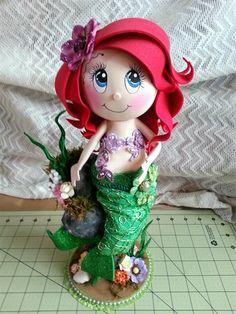 Scrapwluv Creations: Little Mermaid Ariel Fofuch Doll