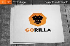 Gorilla Logo by Krukowski Graphics on  creativemarket Logotipo De  Agricultura 565827bc19c0f