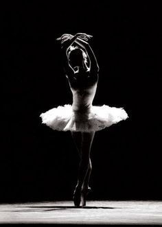 Black and White Ballet Dancer - Learn to dance at BalletForAdults.com!