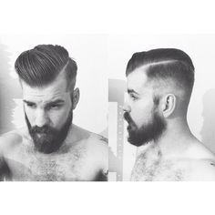 Haircut. Classic undercut - tapered tight