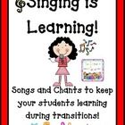 Singing is Learning is a complication of many of the songs and chants that I use during the school year to keep my students focused and learning. Singing/Chanting is a huge part of my management system. I never send my students back to their seats with out a chant to keep their mouths busy and their minds learning.  Included in this 34 page file you will find: 10 different classroom management song posters  $7.00
