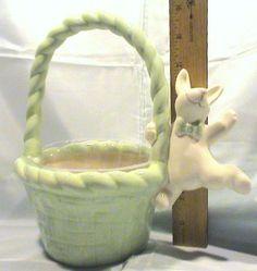 Ceramic Teleflora Easter / Spring Floral Gift Basket w/ Liner #Unspecified #Whimsical