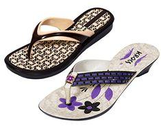 9064ba0594baf7 Krocs Super Comfortable Flip flop For Women Pack of 2 Pairs   Click image  for more details.