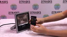 zitrades 20w RGB Thin led Music foodlight color is changed along with th...