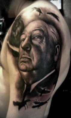 Alfred Hitchcock tattoo