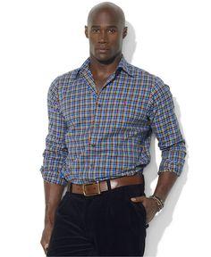 Polo Ralph Lauren Big and Tall Shirt, Checkered Shirt - Shirts - Men - Macys