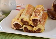 Rotolini di Pane con Nutella, ricetta dolce