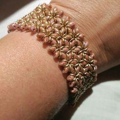 Bracciale a fascia da donna. Bracciale etnico con perline by RamixBijoux on Etsy