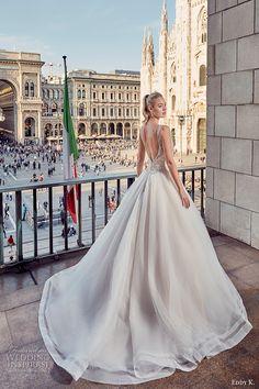 eddy k milano bridal 2017 sleeveless with strap v neck heavily embellished…