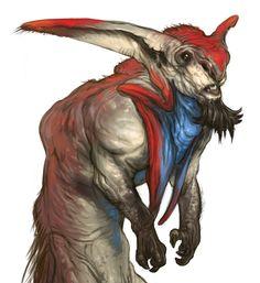 Alien goat monkey creature Find more at https://www.facebook.com/CharacterDesignReferences & http://www.pinterest.com/characterdesigh