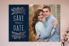 Into the Woods Save the Date Cards by Hooray Creative at minted.com. So cute!