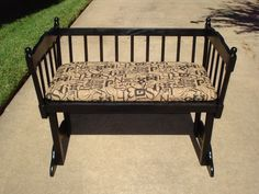 """A bassinet, bassinette, or cradle is a bed specifically for babies from birth to about four months, and small enough to provide a """"cocoon"""" that small babies find comforting. Baby Crib Diy, Baby Bassinet, Baby Cribs, Baby Boy, Diy Furniture Projects, Repurposed Furniture, Antique Furniture, House Projects, Furniture Legs"""