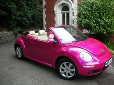 Hot pink VW bug. this would be a dream#Repin By:Pinterest++ for iPad#