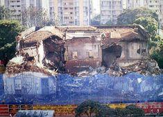 Demolição da Mansão Matarazzo em 1996.