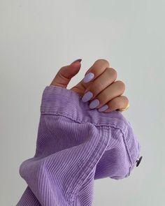 Light Purple Nails, Lilac Nails, Lavender Nails, Cute Acrylic Nails, Cute Nails, Pretty Nails, Gel Nails, Nail Art Jaune, Lavender Aesthetic