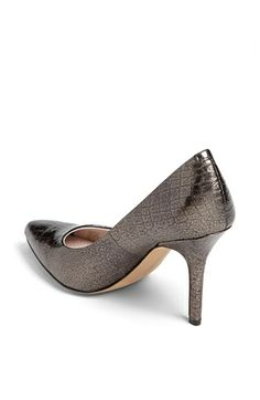 Vince Camuto 'Hallee' Pump in Two-Tone Steel 3.75 inch heel, pointy toe