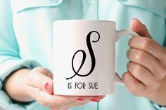 Custom Initials Mug,ceramic quote mug, Statement mug,Name Mug,unique coffee mug, tea mug, message mug,funny mug, coffee lovers mug by PrintsyPrints on Etsy