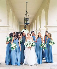 Something (Not Boring) And Blue For Your Wedding Day - blue bridesmaid dress