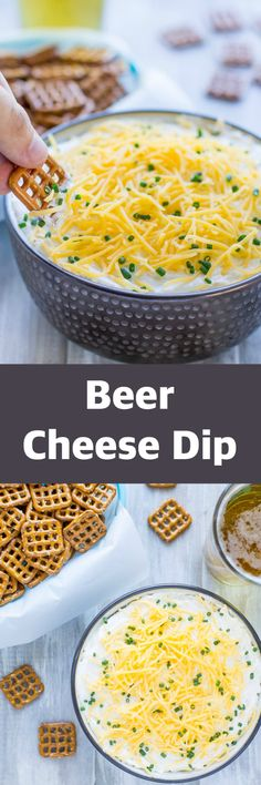 This creamy, addictive Beer Cheese Dip belongs on your party menu! It makes a huge batch so there's plenty to go around, and it's easy too!