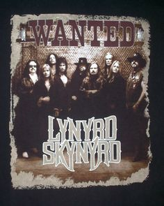 LYNYRD SKYNYRD WANTED 2004 Concert Black T-Shirt (L) Color Black-Free Shipping!! #TennesseeRiver