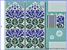 Tricotissimo added a new photo. Fingerless Mittens, Knit Mittens, Knitted Gloves, Knitting Socks, Knitting Charts, Knitting Stitches, Knitting Patterns, Crochet Mittens Free Pattern, Graph Design