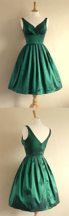 Pleated Homecoming Dresses, Green A-line/Princess Homecoming Dresses, Short Green Homecoming Dresses, V-neck Short Handmade Pretty Green Homecoming Dresses Green Homecoming Dresses, Cheap Short Prom Dresses, A Line Prom Dresses, Evening Dresses, Bridesmaid Dresses, Formal Dresses, Graduation Dresses, Prom Gowns, Dress Prom