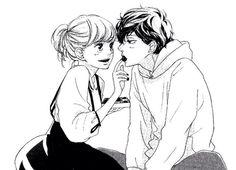 BEST manga for me Anime Ai, Manga Anime, Anime Couples Manga, Cute Anime Couples, Couple Manga, Anime Love Couple, Ao Haru Ride Anime, Futaba Y Kou, Blue Springs Ride