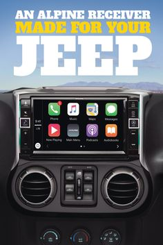 "Alpine i109-WRA In-Dash Restyle System Custom-fit digital media receiver with 9"" screen and Apple CarPlay™ for select 2011-up Jeep Wrangler models"