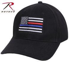 50516d4b61273 Black Thin Blue Line   Thin Red Line Adjustable Low Profile Baseball Cap Hat