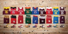 adidas unveils new uniforms for nine of its college basketball teams  3/1/2016