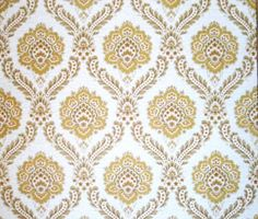 Vintage brown and yellow wallpaper