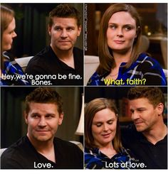 """Lors of love"""" - Seely and Temperance Tv Show Quotes, Movie Quotes, Bones Booth And Brennan, Bones Quotes, Temperance Brennan, Bones Tv Show, Fbi Special Agent, Emily Deschanel, David Boreanaz"""