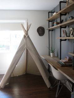6 ft Fold Away Canvas Teepee by houseinhabit on Etsy, $150.00 - need