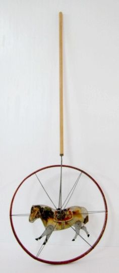 Late Victorian Paper Litho Horse Hoop Toy
