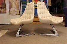 Vintage Pair of Chromcraft Sculpta Chairs Mid Century Modern...