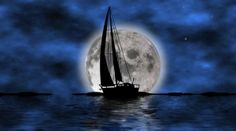 Sailing into the moon.