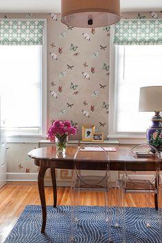 Caitlin Wilson's office Table as desk