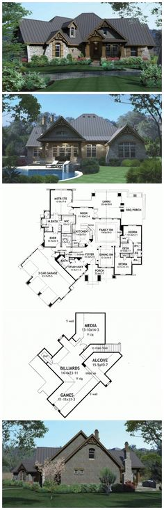 Craftman House Plans - HWEPL73227