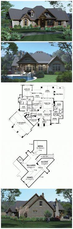 Craftman House Plans - HWEPL73227