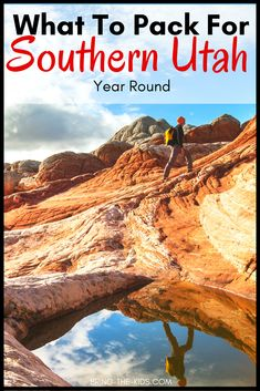 Heading to Southern Utah?  Let us show you exactly what you need to pack all through the year.  Don't forget something to pack on your trip to St George Utah, or get stuck in the heat at Zion National Park.  We've got a free Utah packing list, designed just for Zion and Southern Utah. Zion Park, Zion National Park, National Parks, Grand Canyon Vacation, Utah Vacation, Utah Parks, Printable Packing List, Road Trip Packing List, St George Utah