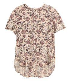 Blusa estampada de seda | Color maquillaje/Floral | Ladies | H&M CL