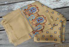 Vintage Seta Pura silk wrap scarf 1980s Made in by TearDropCurio